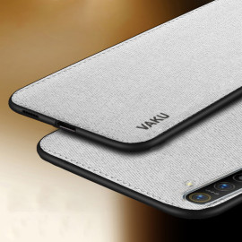 Vaku ® Oppo Realme XT Luxico Series Hand-Stitched Cotton Textile Ultra Soft-Feel Shock-proof Water-proof Back Cover