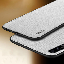 Vaku ® Samsung Galaxy A50S Luxico Series Hand-Stitched Cotton Textile Ultra Soft-Feel Shock-proof Water-proof Back Cover