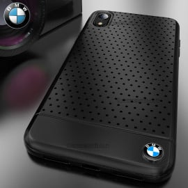 BMW ® iPhone XR Dotted M4 Coupe Leather Edition Black Cover