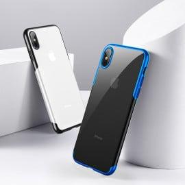 Baseus ® Apple iPhone X / XS Causeway-II Electroplated Metal Series Transparent Back cover