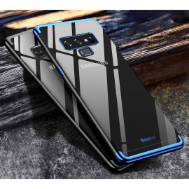 BASEUS ® Samsung Galaxy Note 9 CAUSEWAY Series Electroplated Shine Bumper Finish Full-View Display + Ultra-thin Transparent Back Cover