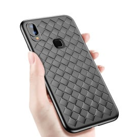 Vaku ® Vivo Y85 WeaveNet Series Cross-Knit Heat-Dissipation Edition Ultra-Thin TPU Back Cover