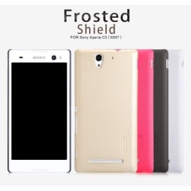 Nillkin ® Sony Xperia C3 Super Frosted Shield Dotted Anti-Slip Grip PC Back Cover