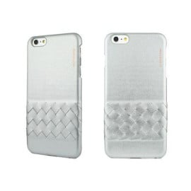 Bushbuck ® Apple iPhone 6 Plus / 6S Plus California Weave Design Elegant M Shiny Leather Back Cover