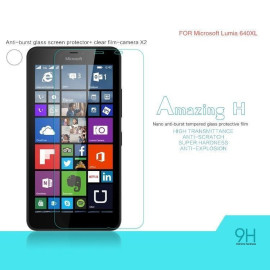 Dr. Vaku ® Microsoft Lumia 640XL Ultra-thin 0.2mm 2.5D Curved Edge Tempered Glass Screen Protector Transparent
