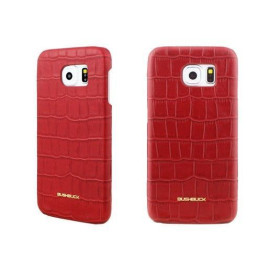 Bushbuck ® Samsung Galaxy S6 Edge Stone Patterned Caiman Premium Leather Back Cover
