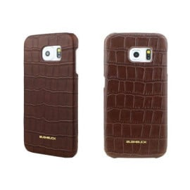 Bushbuck ® Samsung Galaxy S6 Stone Patterned Caiman Premium Leather Back Cover