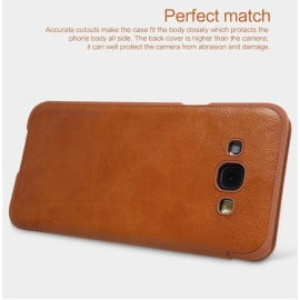 Nillkin ® Samsung Galaxy A8 Nitq Folio Leather Smart Window View Protective Case Flip Cover