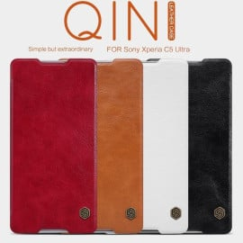 Nillkin ® Sony Xperia C5 Nitq Folio Leather Protective Case with Credit Card Slot Flip Cover