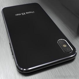 Vaku ® Apple iPhone XS Max Matte Metal Chrome Back cover