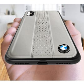 BMW ® iPhone X M2 COMPETITION freckled leather Back Case