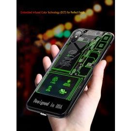 VAKU ® Apple iPhone X  X-RAY Apple Circuit LED Glowing Phone Case