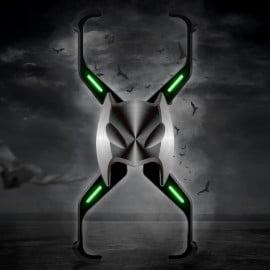 Vaku ® Apple iPhone XS Max Luminous Batmask Magnetic Metal Shock-Proof Anti-Fall Bumper Back Cover