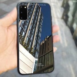 Vaku ® Samsung Galaxy S20 Club Series Ultra-Shine Luxurious Tempered Finish Silicone Frame Thin Back Cover
