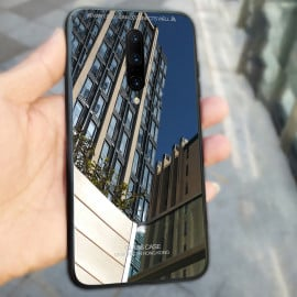 Vaku ® Oneplus 7 Pro Club Series Ultra-Shine Luxurious Tempered Finish Silicone Frame Thin Back Cover