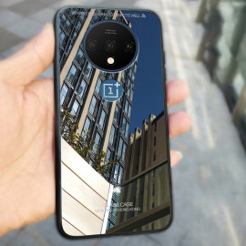Vaku ® OnePlus 7T Club Series Ultra-Shine Luxurious Tempered Finish Silicone Frame Thin Back Cover