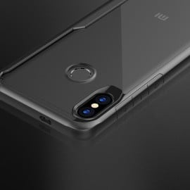 Vaku ® Xiaomi Redmi Note 5 Pro Defender Glassino Series Anti-Drop Silicone 4 Frames + Ultra-Thin Transparent Back Cover