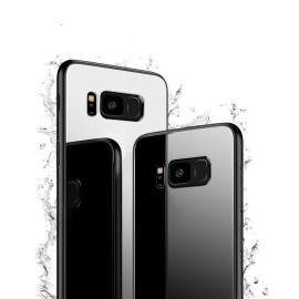 Vaku ® Samsung Galaxy S8 Plus Club Series Ultra-Shine Luxurious Tempered Finish Silicone Frame Thin Back Cover