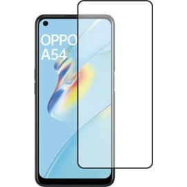 Dr. Vaku ® Oppo A54 Full Edge-to-Edge Ultra-Strong Ultra-Clear Full Screen Tempered Glass- Black