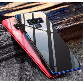 Vaku ® Samsung Galaxy Note 9 CAUSEWAY Series Electroplated Shine Bumper Finish Full-View Display + Ultra-thin Transparent Back Cover