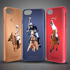 Santa Barbara Polo Club ® Apple iPhone 8 Jockey Series 3D Ebroidered Design Faux Leather Back Cover
