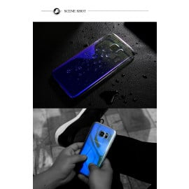 Vaku ® Samsung Galaxy C7 Pro Infinity Series with UV Colour Shine Transparent Full Display PC Back Cover