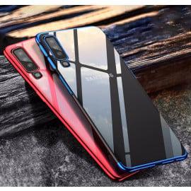 Vaku ® Samsung Galaxy A7 (2018) CAUSEWAY Series Electroplated Shine Bumper Finish Full-View Display + Ultra-thin Transparent Back Cover