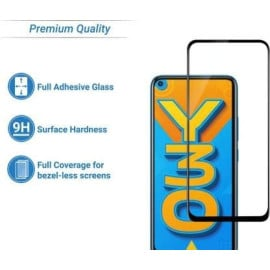 Dr. Vaku ® Vivo Y30 Full Edge-to-Edge Ultra-Strong Ultra-Clear Full Screen Tempered Glass- Black