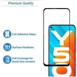 Dr. Vaku ® Vivo Y50 Full Edge-to-Edge Ultra-Strong Ultra-Clear Full Screen Tempered Glass- Black