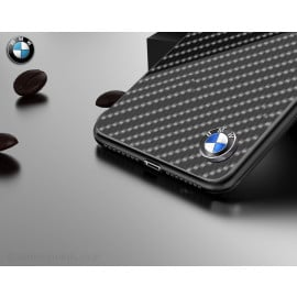BMW ® Apple iPhone XS Max Glossy Tempered Carbon Fibre Back cover