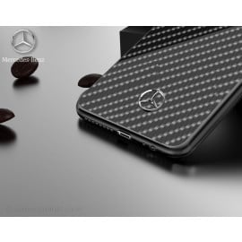 Mercedes Benz ® Samsung Galaxy S9 Plus Classy Carbon Fiber Raven leather Back Cover