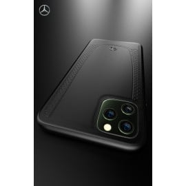 Mercedes Benz ® Apple iPhone 11 Pro Max Urban Collection Genuine Smooth Leather Back Cover
