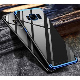 Vaku ® Samsung Galaxy S8 Plus CAUSEWAY Series Electroplated Shine Bumper Finish Full-View Display + Ultra-thin Transparent Back Cover