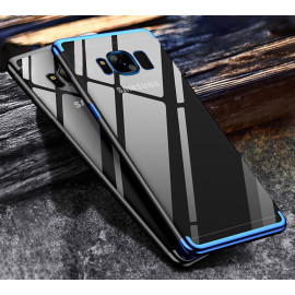 Vaku ® Samsung Galaxy S8 CAUSEWAY Series Electroplated Shine Bumper Finish Full-View Display + Ultra-thin Transparent Back Cover