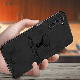 Vaku ® OnePlus Nord Deer Series Hand-Stitched Cotton Textile Ultra Soft-Feel Shock-proof Water-proof Back Cover