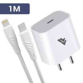 DR VAKU® 2IN1 20W Power Adapter USB-C Cable To Lightining Fast Charging Compatible for iPhone 12/12 Pro/Max / 11 Pro/ 11 Pro Max/iPads & iOS Devices