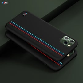 BMW Motorsports ® Apple iPhone 11 Pro Max X4 M Competition Vertical Strip Pure Silicon Back Cover