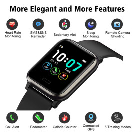 VAKU ® B1 Life Smart Watch with Sleep Monitor + Step Counter Calorie Counter and Fitness Tracker + Heart Rate Monitor