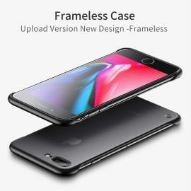 VAKU ® For Apple iPhone 8 Plus Frameless Semi Transparent Cover