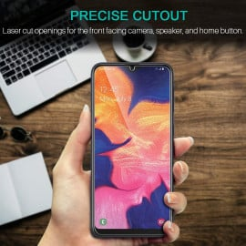 Dr. Vaku ® Samsung Galaxy A10 5D Curved Edge Ultra-Strong Ultra-Clear Full Screen Tempered Glass-Black