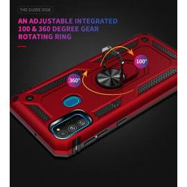 Vaku ® Samsung Galaxy M30S Armor Ring Shock Proof Cover with Inbuilt Kickstand