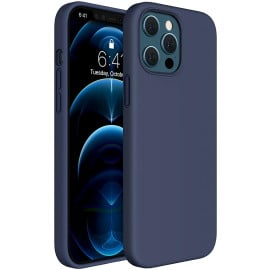 Vaku ® For Apple iPhone 12 / 12 Pro Liquid Silicon Velvet-Touch Silk Finish Shock-Proof Back Cover