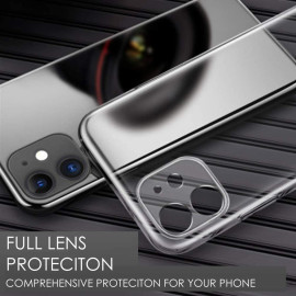 VAKU ® Compatible For iPhone 12 Camera Lens Protection Transparent TPU Back Cover