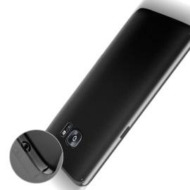 Vaku ® Samsung Galaxy S7 Edge Feather Series Paper-Thin Ultra-Light Matte Finish PC Back Cover Black