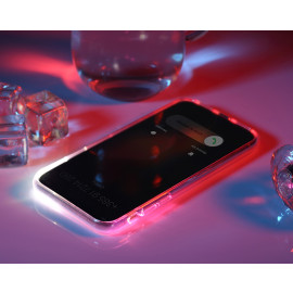Rock ® Apple iPhone X LED Light Tube Case with Flash Alert Soft / Silicon Case