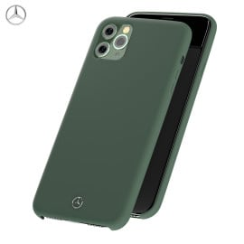 Mercedes Benz ® For Apple iPhone 11 Pro Liquid Silicon Velvet-Touch Silk Finish Shock-Proof Back Cover