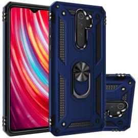 Vaku ® Xiaomi Redmi Note 8 Pro Armor Ring Shock Proof Cover with Inbuilt Kickstand