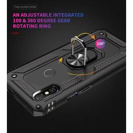 Vaku ® Xiaomi Redmi Note 5 Pro Armor Ring Shock Proof Cover with Inbuilt Kickstand