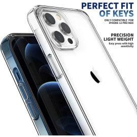 eller santé ® Apple iPhone 12 / 12 Pro Crystal Series Transparent Hard Case With Free 20W Type C Charger