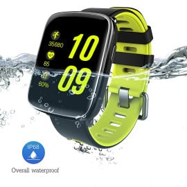 VAKU ® GV68 Multi functional Heart Rate Monitor / BT Music / Anti-Lost / Remote Camera IP68 Water &  Dust proof smartwatch